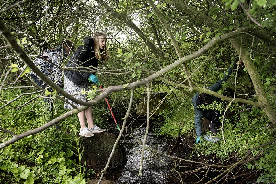 Elever fra Sophienborgskolen deltager i Masseksperimentet. Foto: ASTRA