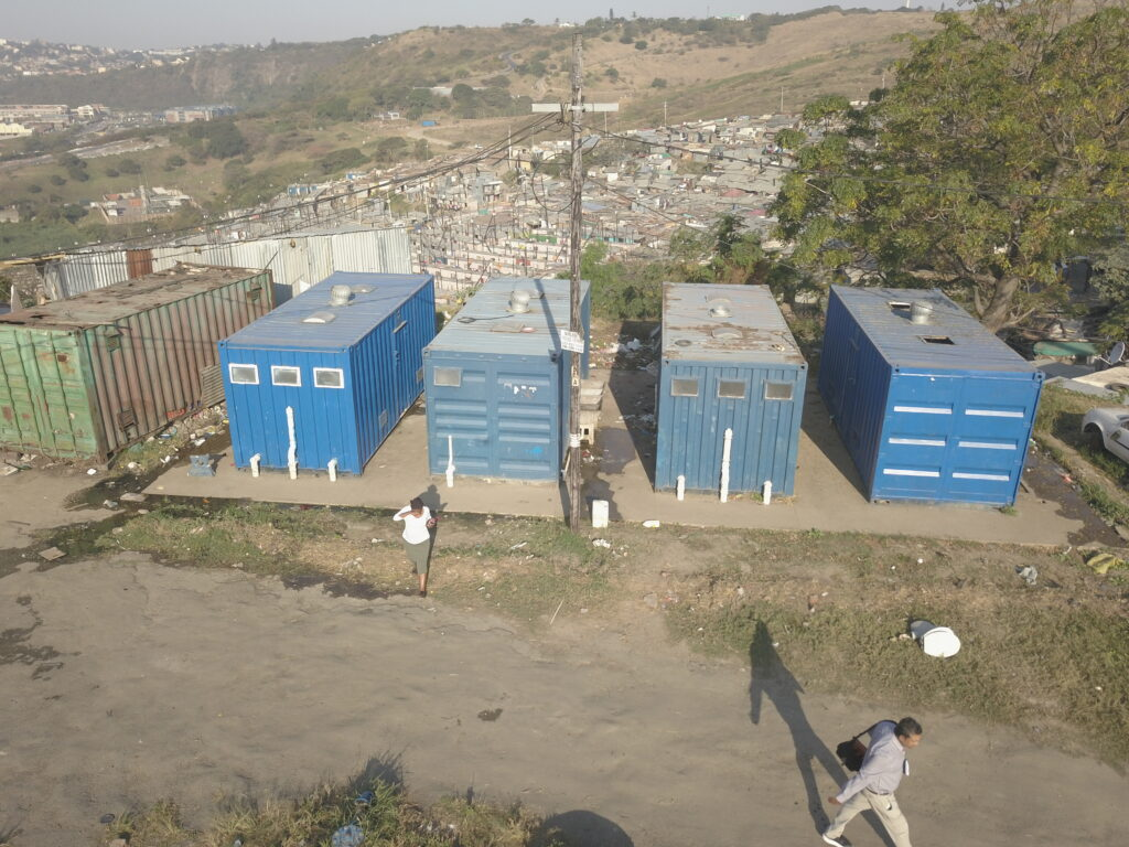 Toilet buildings in South African settlement