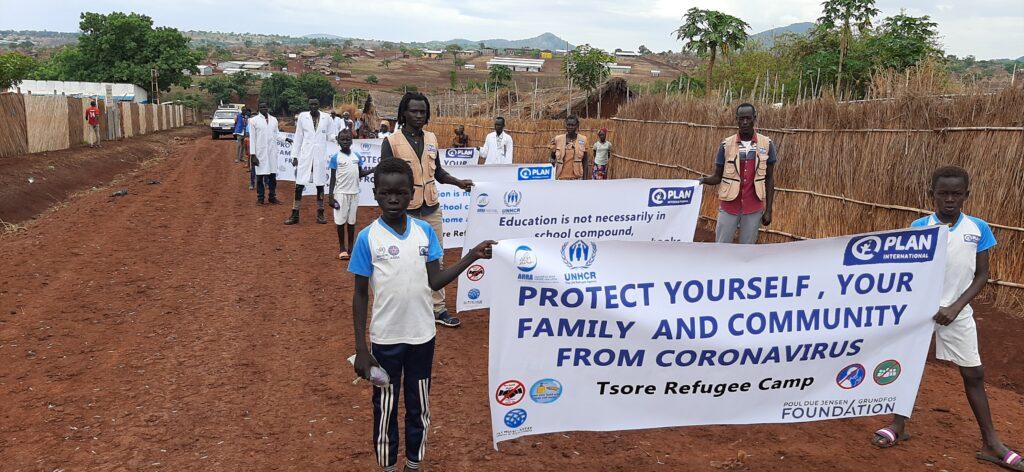 Sundhedskampagne i flygtningelejr i Etiopien