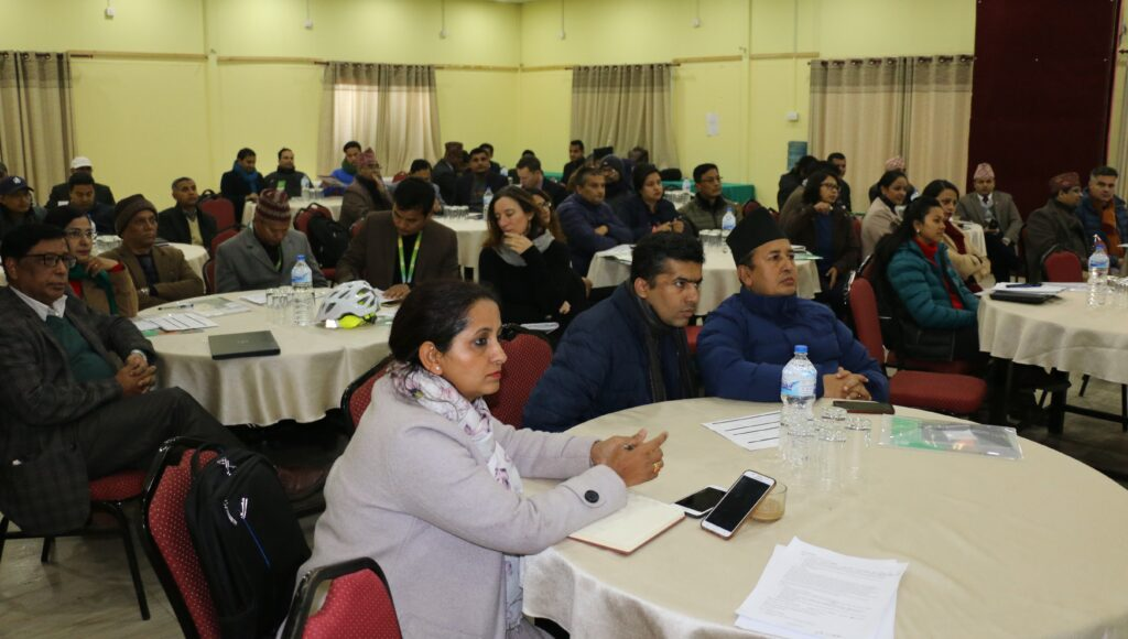 1.Group Shot of workshop with the Ministry of Water. Oxfam Nepal Country Director Sarah Blin pictured in the middle.