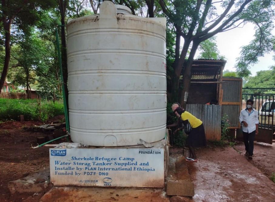 Vandtank i Sherkole Flygtningelejren, Etiopien