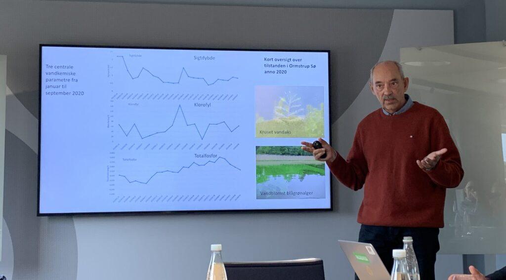 Seniorforsker Martin Søndergaard præsenterer sin og kollegernes forskning.