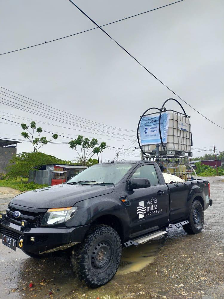 Water Mission Indonesia water distribution truck