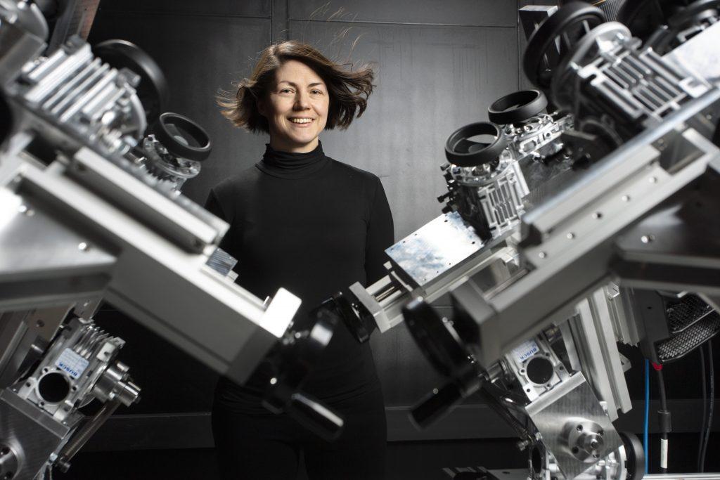 Clara Velte i det nye laboratorium.