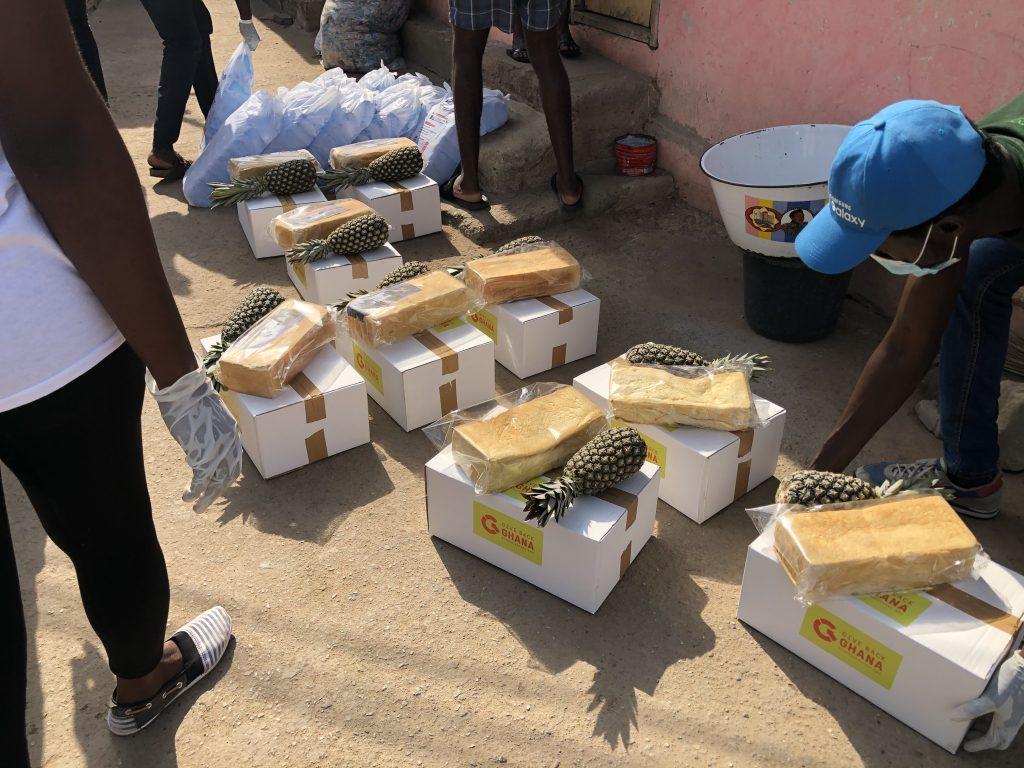 Give Back Ghana food parcels